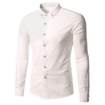 Long Sleeve Cotton Button Down Shirt