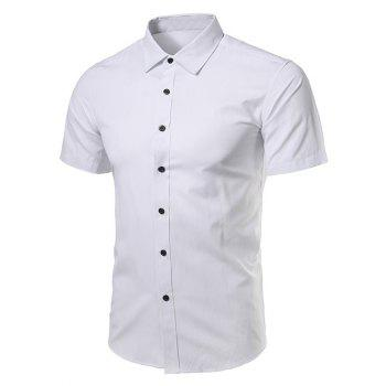 Short Sleeve Turndown Collar Business Shirt