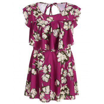 Underwire Floral Plus Size Swimdress