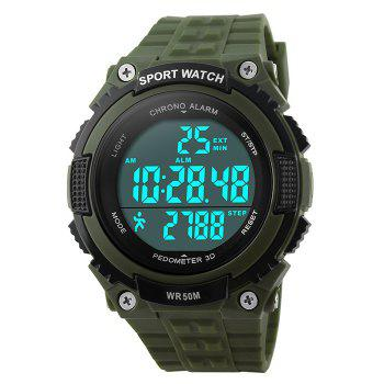 SKMEI Outdoor Pedometer Sports Watch - ARMY GREEN ARMY GREEN