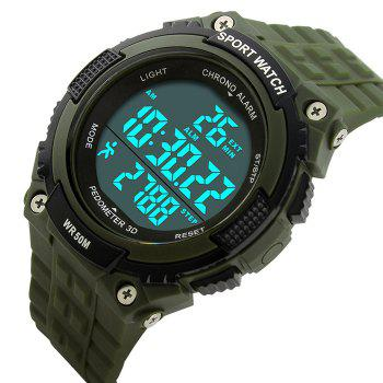 SKMEI Outdoor Pedometer Sports Watch - ARMY GREEN