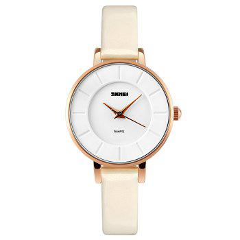 SKMEI Faux Leather Analog Watch