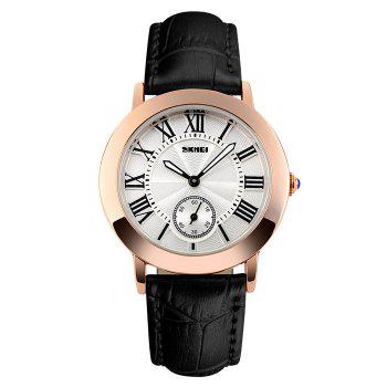 SKMEI Faux Leather Roman Numeral Watch