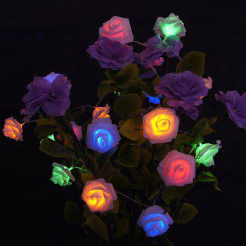 20 Pcs LED Rose Flower String Lights