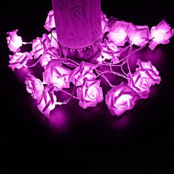 20 Pcs LED Rose Flower String Lights - PURPLE