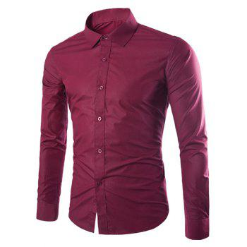 Long Sleeve Slimming Business Shirt