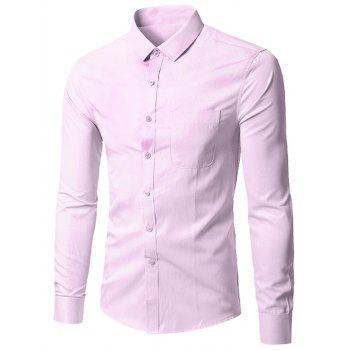 Turndown Collar Pocket Business Shirt