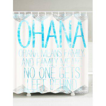 Letter Quote Polyester Fabric Shower Curtain