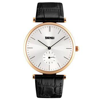 SKMEI Faux Leather Minimalist Watch