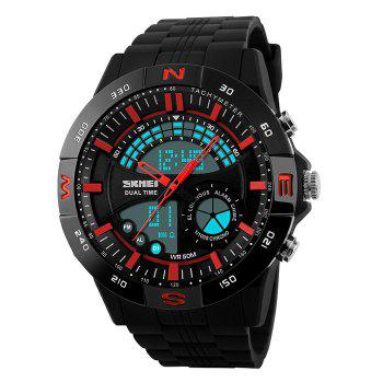 SKMEI Outdoor Timer Digital Sports Watch - RED RED