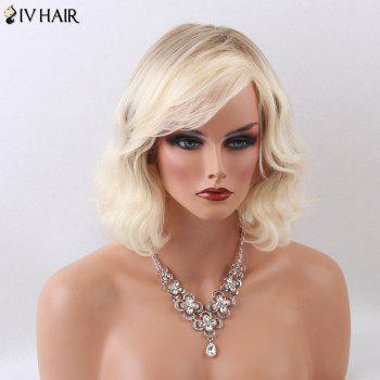 Siv Hair Medium Curly Shaggy Oblique Bang Capless Human Hair Wig