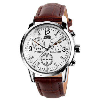 SKMEI Faux Leather Tachymeter Watch