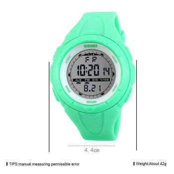 SKMEI Outdoor Alarm Digital Sports Watch -  NEON GREEN