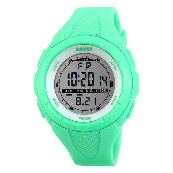 SKMEI Outdoor Alarm Digital Sports Watch - NEON GREEN NEON GREEN