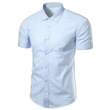 Turndown Collar Slimming Short Sleeve Business Shirt