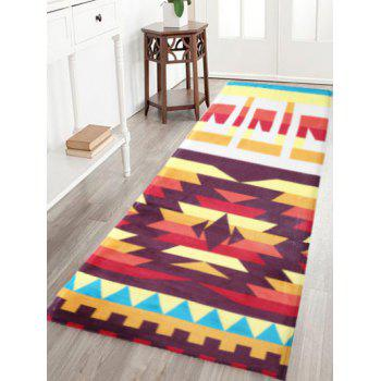 Indian Style Antiskid Geometric Pattern Water Absorption Rug
