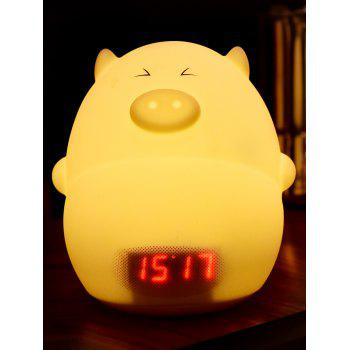 Cartoon LED Night Light with Alarm Clock