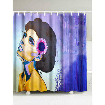 National Woman Painted Mouldproof Shower Curtain