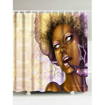 African Style Waterproof Fabric Shower Curtain