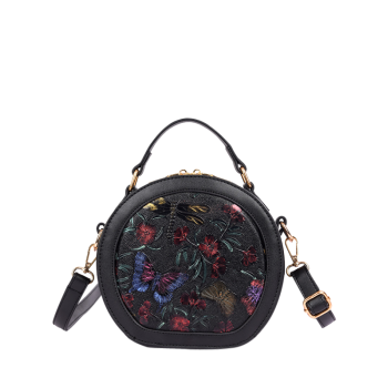 Butterfly Flower Embossed Canteen Bag