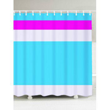 Waterproof Fabric Color Block Shower Curtain