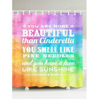 English Proverb Color Block Printed Shower Curtain