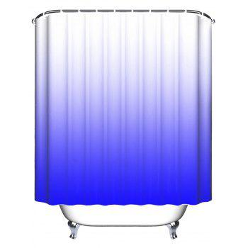 Anti-bacteria Ombre Shower Curtain with Hooks - BLUE W71 INCH * L71 INCH