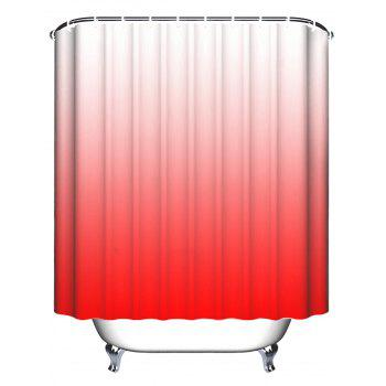 Anti-bacteria Ombre Shower Curtain with Hooks - RED W71 INCH * L71 INCH