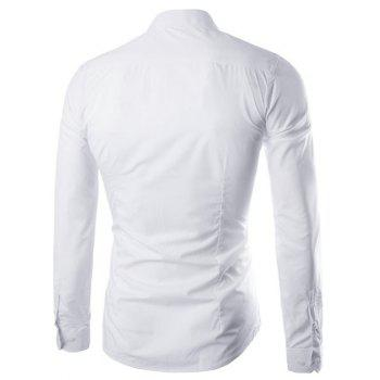 Long Sleeve Slimming Business Shirt - WHITE XL