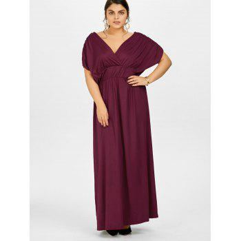 2018 Plus Size Empire Waist Long Formal Evening Dress WINE RED XL In ...