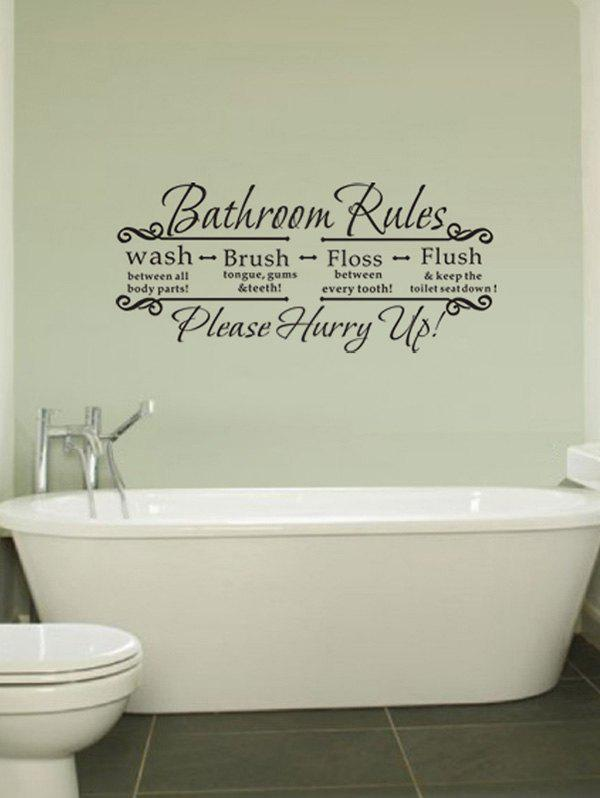 2018 Bathroom Decor Letter Quote Wall Stickers DEEP GRAY CM In Wall ...