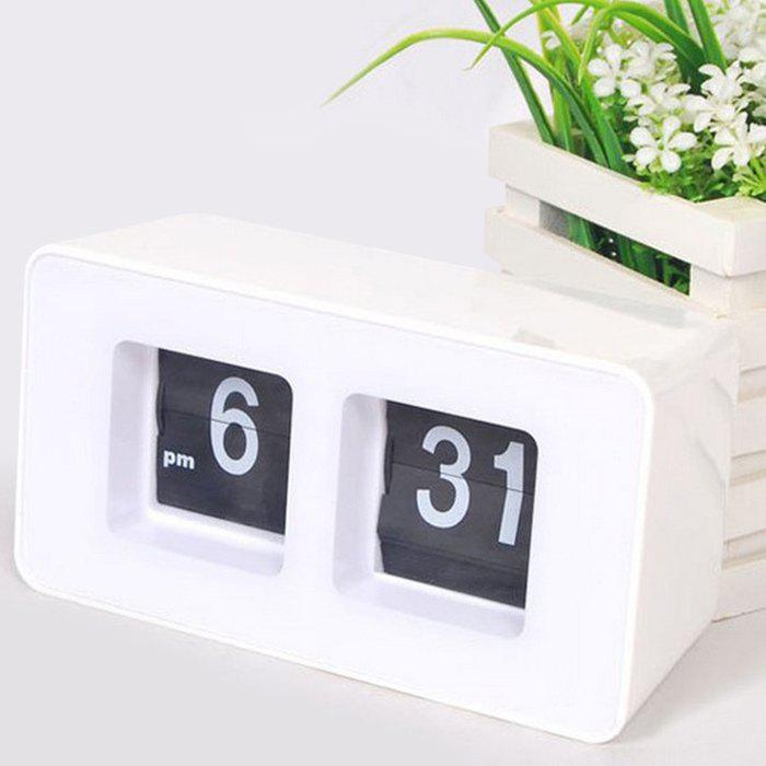 Retro Number Flip Desk Clock retro digital flip page gear clock