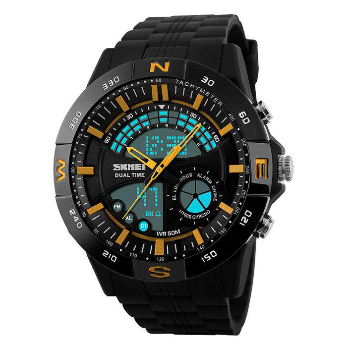 SKMEI Outdoor Timer Digital Sports Watch - YELLOW