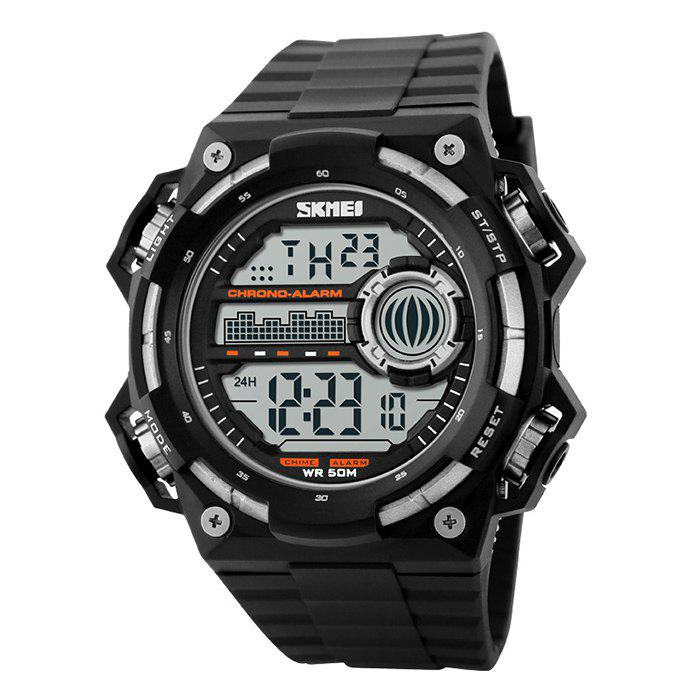 SKMEI Outdoor Luminous Digital Watch, Silver