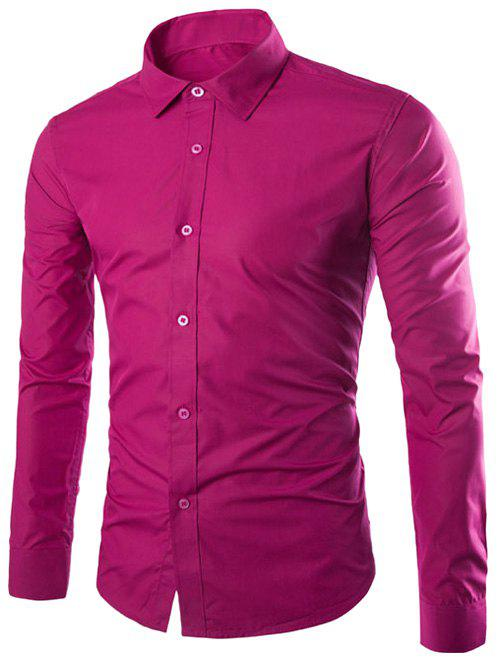 Long Sleeve Slimming Business Shirt - TUTTI FRUTTI XL