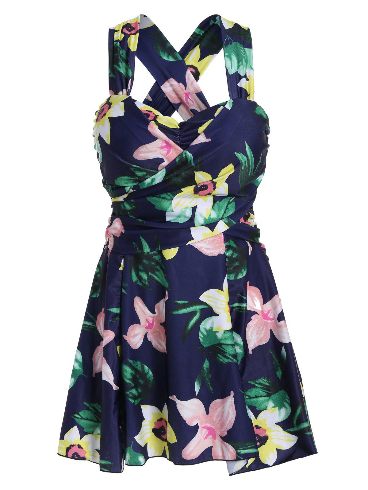 2018 plus size hawaiianfloral high waist swimdress floral xl in plus size swimwear online store. Black Bedroom Furniture Sets. Home Design Ideas