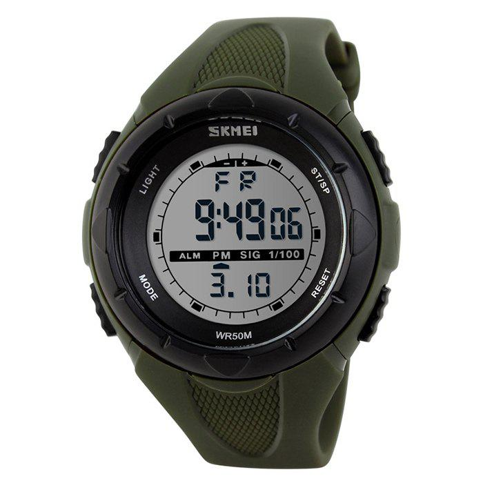 SKMEI Outdoor Alarm Digital Sports Watch - ARMY GREEN