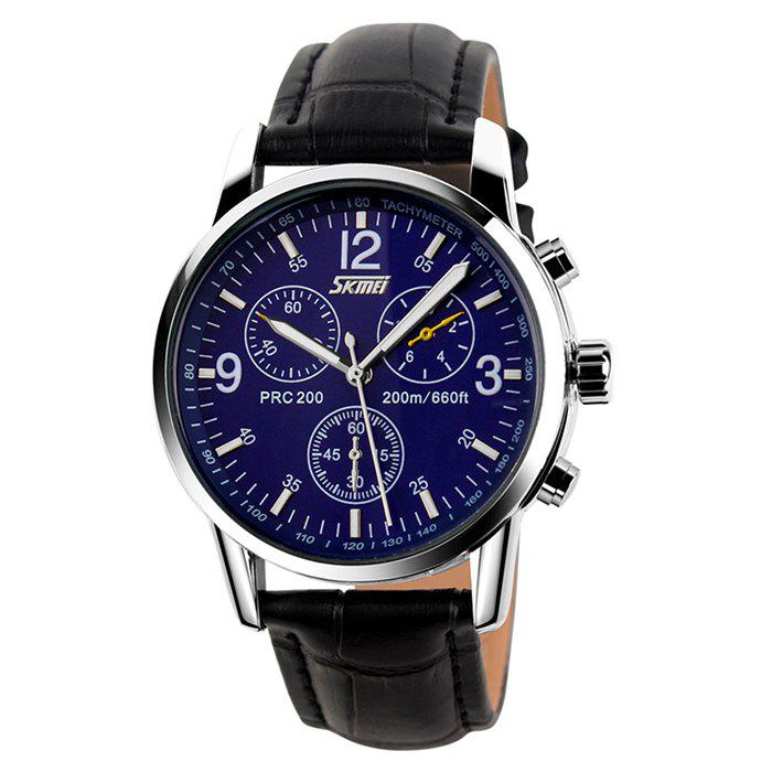 SKMEI Faux Leather Tachymeter Watch oukeshi faux leather tachymeter watch