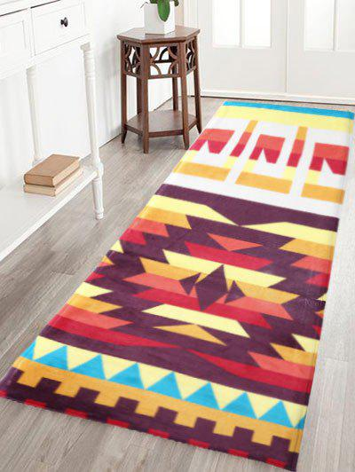 Indian Style Antiskid Geometric Pattern Water Absorption Rug indian geometric pattern water absorption flannel antislip rug