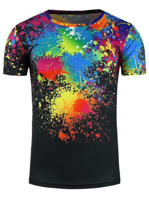 [LIMITED OFFER] 2019 Splatter Paint Colorful 3D Print T ...