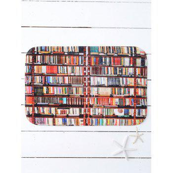 Bookcase Print Water Absorb Bath Mat