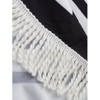 Fringe Stripe Beach Throw - COLORMIX ONE SIZE