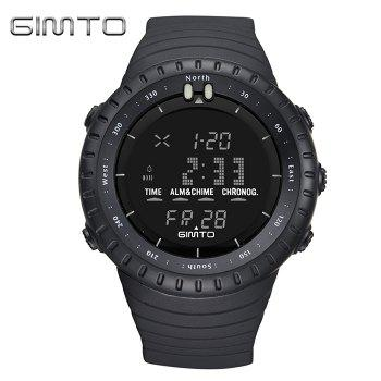 GIMTO Luminous Digital Sports Watch - BLACK BLACK