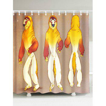 Polyester Fabric Funny Sloth Shower Curtain