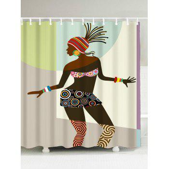 Polyester Fabric African Style Shower Curtain