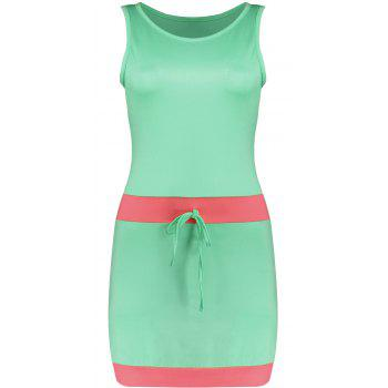 Color Block Mini Tank Bodycon Dress