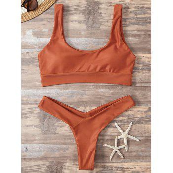 High Cut Sporty Two Piece Swimsuit
