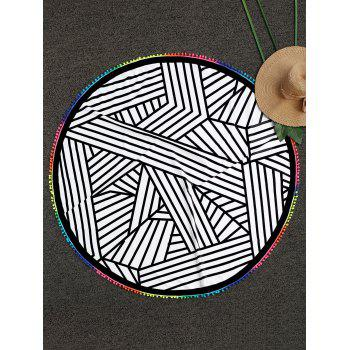 Striped Round Beach Throw - COLORMIX COLORMIX