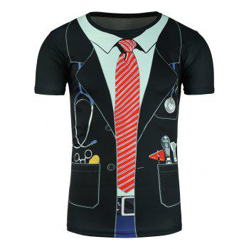 Faux Twinset Doctor Costume Print T-Shirt