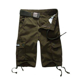 Button Flap Pocket Casual Shorts
